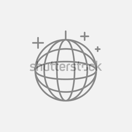 Disko topu hat ikon web hareketli infographics Stok fotoğraf © RAStudio