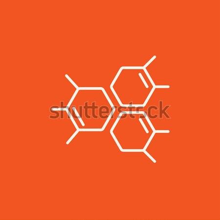 Químicos fórmula línea icono web móviles Foto stock © RAStudio