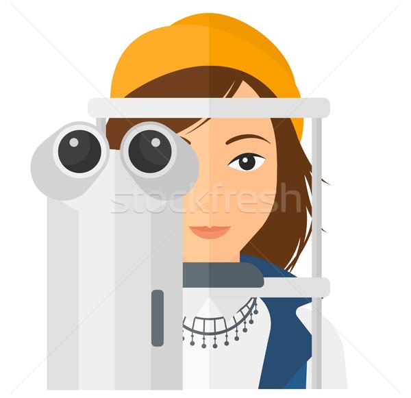 Patient Homme examen de la vue vecteur design Photo stock © RAStudio