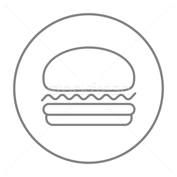 Hamburger ligne icône web mobiles infographie Photo stock © RAStudio