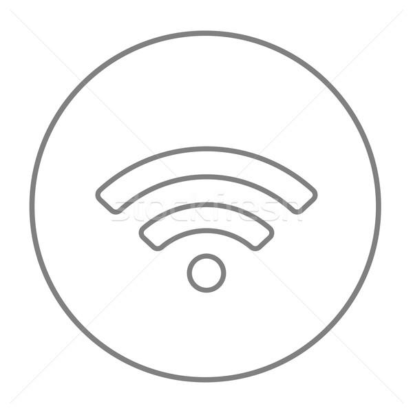 Wifi teken lijn icon web mobiele Stockfoto © RAStudio