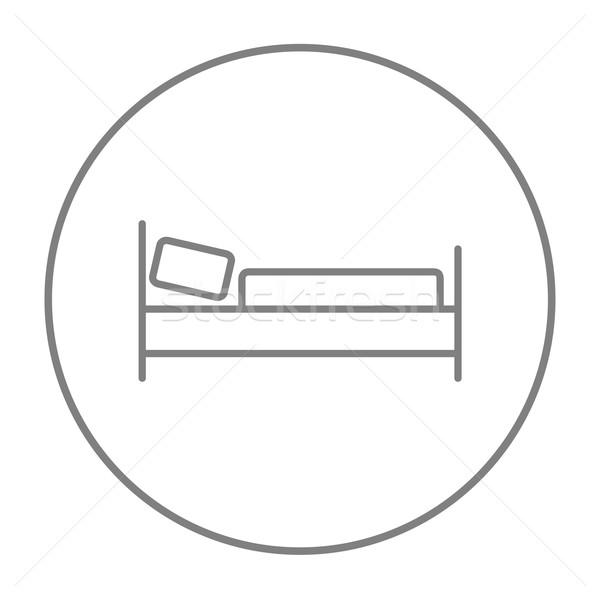 Cama línea icono web móviles infografía Foto stock © RAStudio