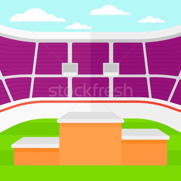 Estádio pódio vencedores vetor projeto ilustração Foto stock © RAStudio
