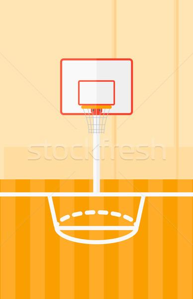 Basketbol sahası vektör dizayn örnek dikey düzen Stok fotoğraf © RAStudio