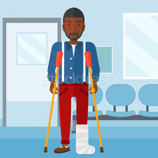 Patient with broken leg. Stock photo © RAStudio