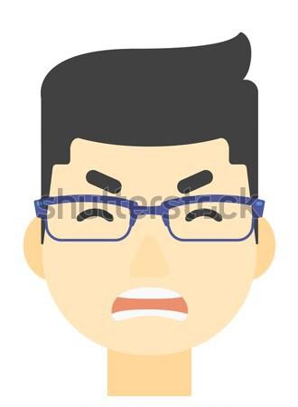 молодые депрессия человека борода вектора дизайна Сток-фото © RAStudio