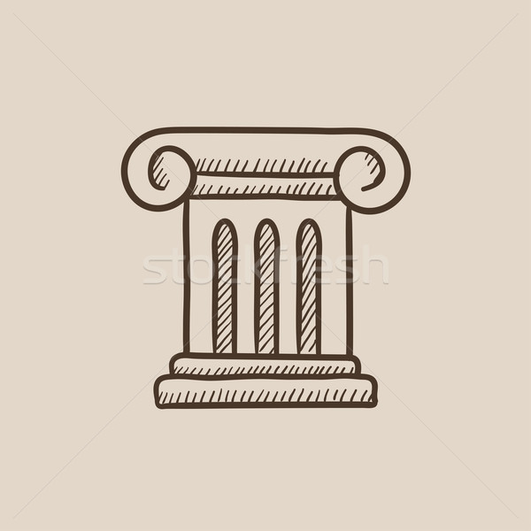 Ancient column sketch icon. Stock photo © RAStudio