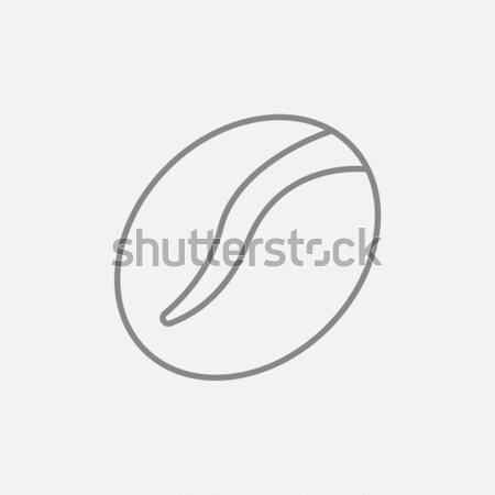 Coffee bean line icon. Stock photo © RAStudio
