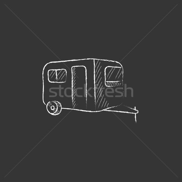キャラバン チョーク アイコン 手描き ベクトル ストックフォト © RAStudio