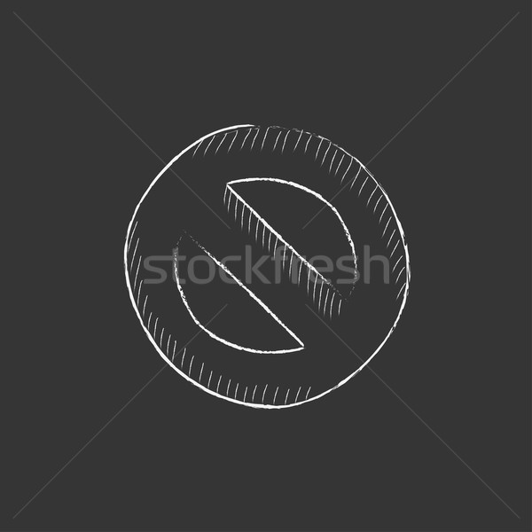 Not allowed sign. Drawn in chalk icon. Stock photo © RAStudio