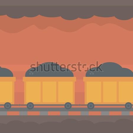 подземных туннель горно корзины полный уголь Сток-фото © RAStudio