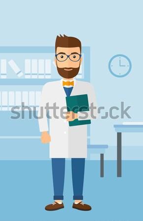 Férfi mér derék hipszter szakáll csípővonal Stock fotó © RAStudio