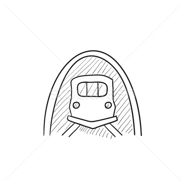 Railway tunnel sketch icon. Stock photo © RAStudio