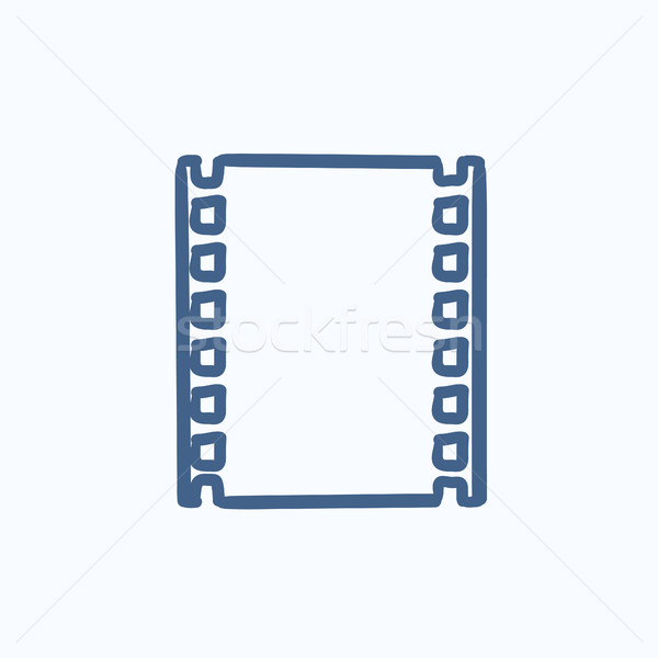 Negative Skizze Symbol Vektor isoliert Hand gezeichnet Stock foto © RAStudio