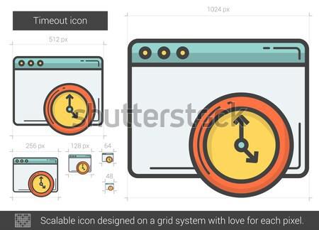 Timeout line icon. Stock photo © RAStudio