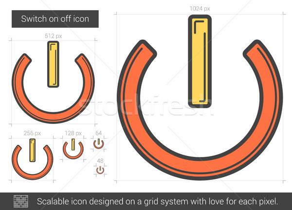 Switch ligne icône vecteur isolé Photo stock © RAStudio