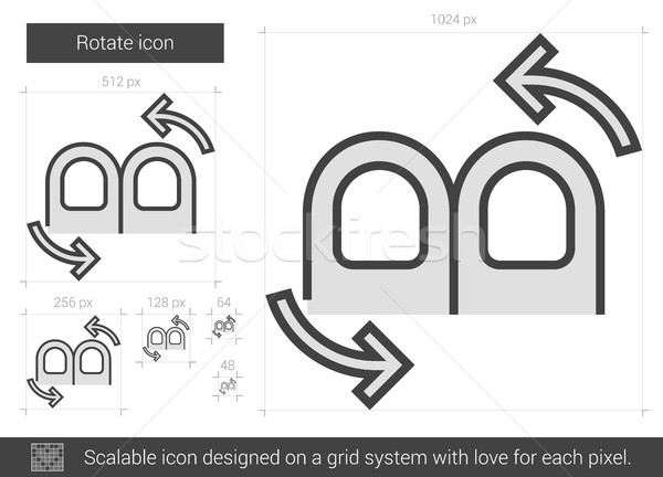 Forgat vonal ikon vektor izolált fehér Stock fotó © RAStudio