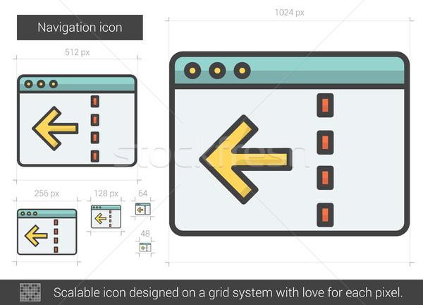 навигация линия икона вектора изолированный белый Сток-фото © RAStudio