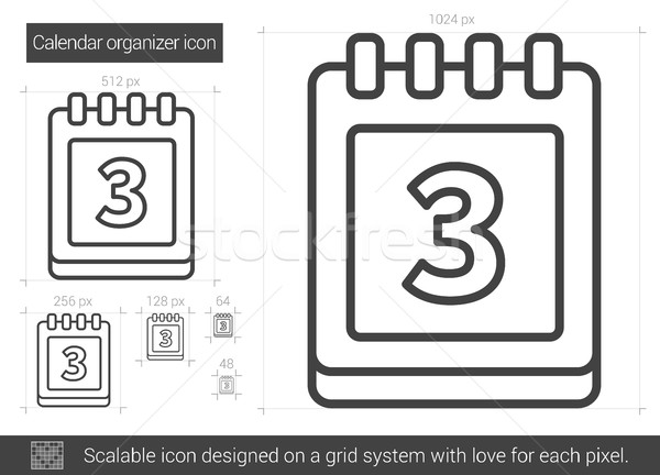 Calendar organizer line icon. Stock photo © RAStudio