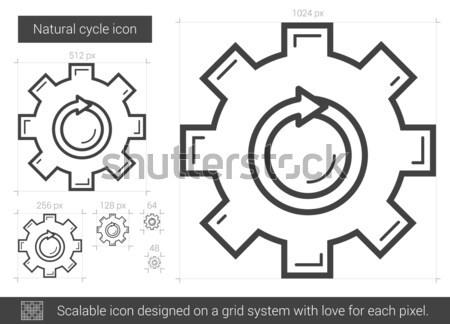Naturale ciclo line icona vettore isolato Foto d'archivio © RAStudio