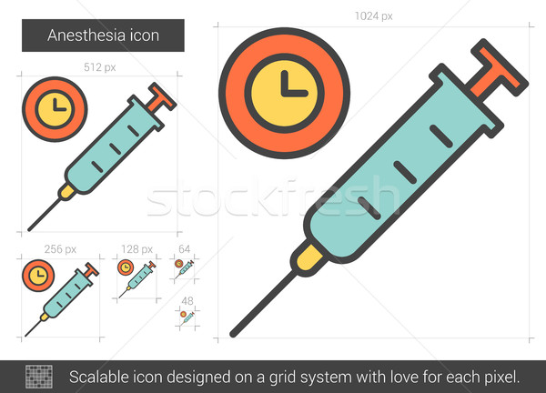 Anesthesia line icon. Stock photo © RAStudio