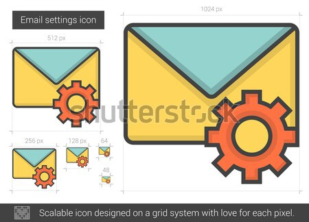 Email settings line icon. Stock photo © RAStudio