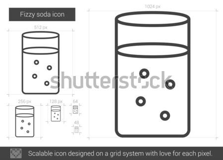 шипучий соды линия икона вектора изолированный Сток-фото © RAStudio