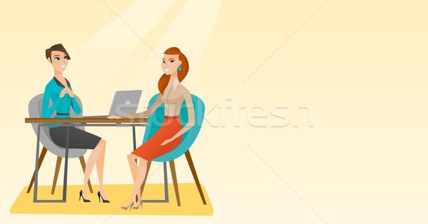 Pracy wnioskodawca wywiad pozycja ludzi Zdjęcia stock © RAStudio