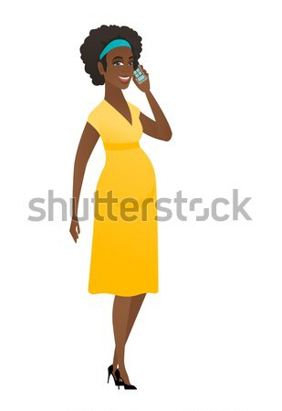 Young african pregnant woman scratching her head. Stock photo © RAStudio