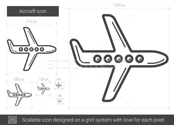 Aeronave linha ícone vetor isolado branco Foto stock © RAStudio
