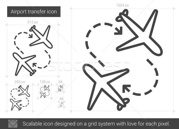 аэропорту передача линия икона вектора изолированный Сток-фото © RAStudio