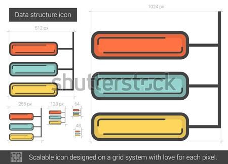 Datos estructura línea icono vector aislado Foto stock © RAStudio