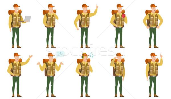 Vector set of traveler characters. Stock photo © RAStudio