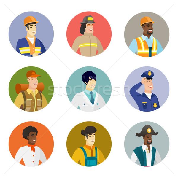 Vector ingesteld verschillend beroepen jonge Stockfoto © RAStudio