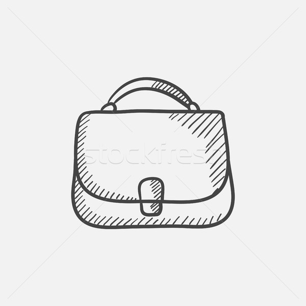 Female handbag sketch icon. vector illustration © Andrei Krauchuk ... eeff95c44b