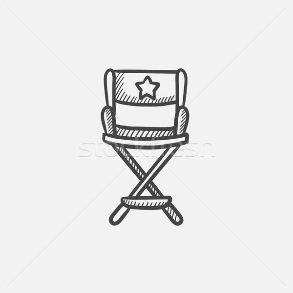 Director chair sketch icon. Stock photo © RAStudio