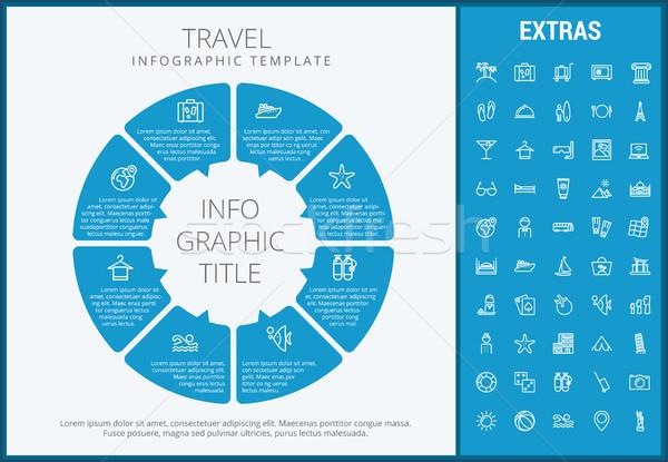 旅行 インフォグラフィック テンプレート 要素 アイコン カスタマイズ可能な ストックフォト © RAStudio