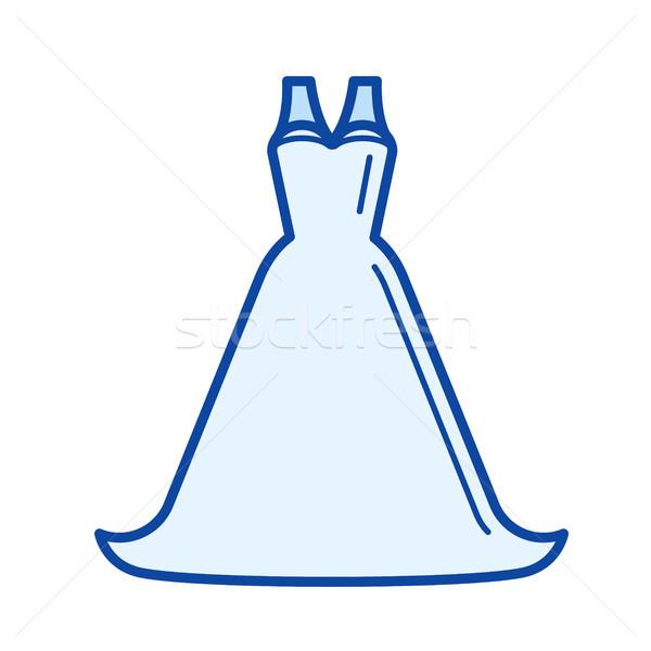 Bride dress line icon. Stock photo © RAStudio
