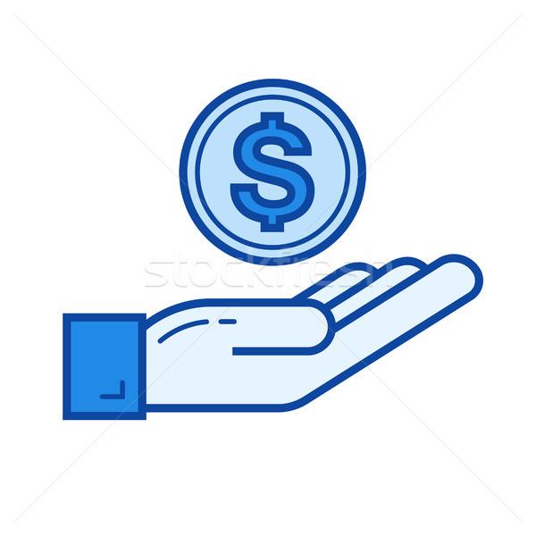 Money insurance line icon. Stock photo © RAStudio