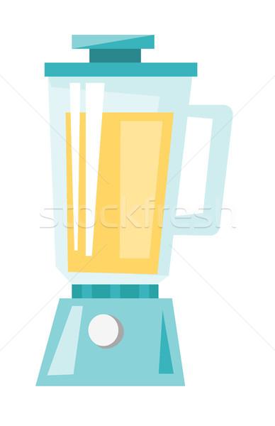 Whey protein shake in a blender vector cartoon. Stock photo © RAStudio