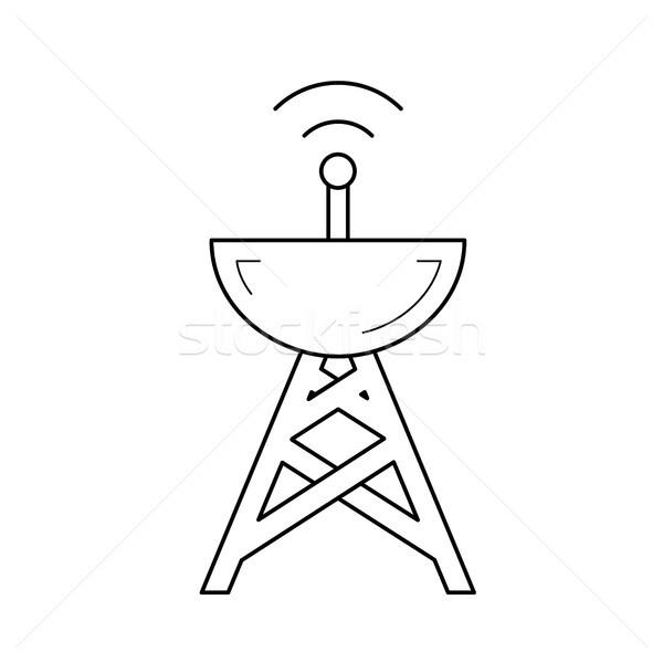 Antena línea icono vector aislado blanco Foto stock © RAStudio