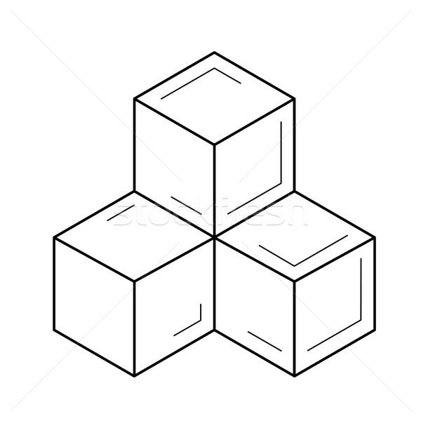 Modül hat ikon vektör yalıtılmış beyaz Stok fotoğraf © RAStudio