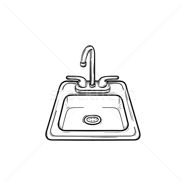 Toilet sink hand drawn sketch icon. Stock photo © RAStudio