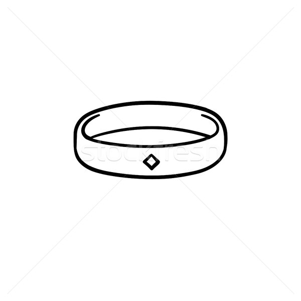 Metal bracelet hand drawn sketch icon. Stock photo © RAStudio