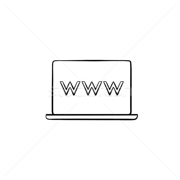 Computador portátil tela teia navegador janela Foto stock © RAStudio