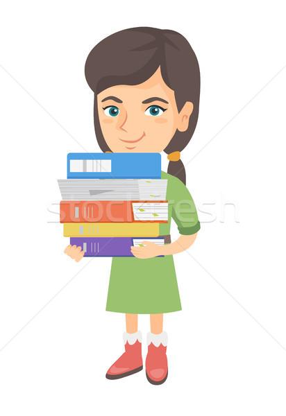 Kafkas okul çocuk ders kitapları Stok fotoğraf © RAStudio