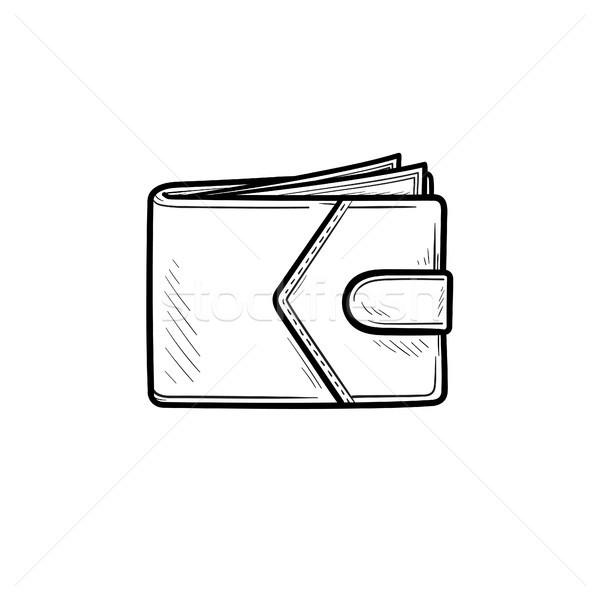 Moderna cartera dibujado a mano garabato icono Foto stock © RAStudio
