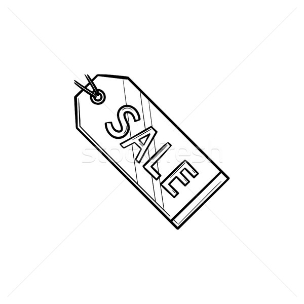 Sale tag hand drawn outline doodle icon. Stock photo © RAStudio
