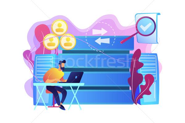 Management information system concept vector illustration. Stock photo © RAStudio