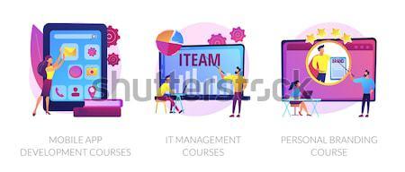 Back to school bash concept vector illustration. Stock photo © RAStudio